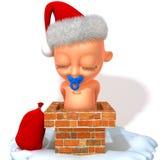Illustration de Jake Santa Claus 3d de bébé Images libres de droits