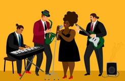 Illustration de jazz-band illustration de vecteur