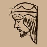 Illustration de Jesus Christ Hand Drawn Vector Image libre de droits