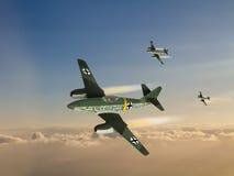 Illustration de Jet Fighter d'Allemand de la guerre mondiale 2 Images libres de droits