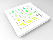 Illustration de jeu de quinze puzzles Photos libres de droits