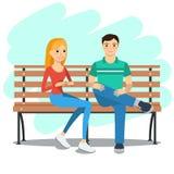 Illustration de jeunes couples Photographie stock