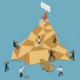 Illustration de Job Vacancy Flat Isometric Vector illustration stock
