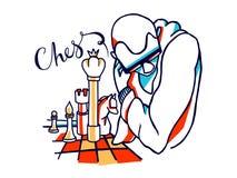 Illustration de joueurs d'échecs illustration libre de droits