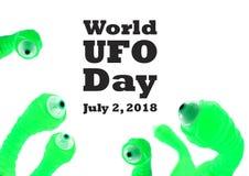 Illustration de jour d'UFO du monde illustration libre de droits