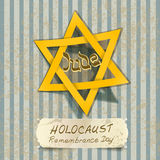 Illustration de jour de souvenir d'holocauste avec l'étoile de David Photos stock