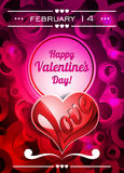 Illustration de jour de Valentines avec l'espace des textes et le coeur d'amour Images stock