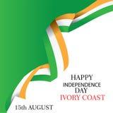 Illustration de Jour de la Déclaration d'Indépendance de la Côte d'Ivoire avec le drapeau et les éléments patriotiques Concept de illustration stock
