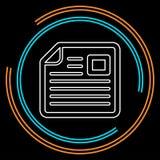 Illustration de journal de vecteur - icône de nouvelles illustration de vecteur