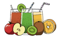 Illustration de jus de fruit Image libre de droits