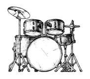 Illustration de kit de tambour illustration de vecteur