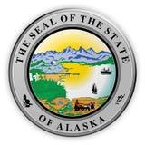 Illustration de l'Alaska 3d de joint d'état d'USA d'insigne illustration libre de droits