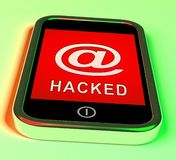 Illustration de l'alerte 3d d'espionnage de Web de pirate informatique de téléphone illustration stock