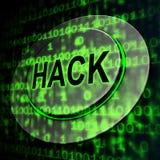 Illustration de l'alerte sécurité 3d de Cyber entaillée par site Web illustration de vecteur