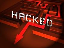Illustration de l'alerte sécurité 3d de Cyber entaillée par site Web illustration libre de droits