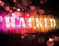 Illustration de l'alerte sécurité 3d de Cyber entaillée par site Web illustration stock
