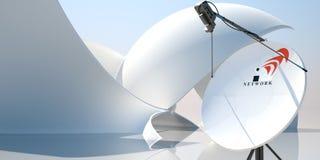 Illustration de l'antenne 3d d'antenne parabolique illustration libre de droits