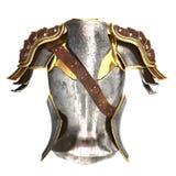 Illustration de l'armure 3d de femme d'isolement sur le fond blanc Photo stock