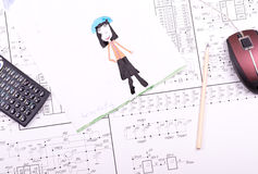 Illustration de l'enfant Image stock
