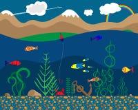 Illustration de l'espèce marine illustration libre de droits