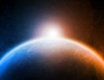 Illustration de l'espace de planète Photo libre de droits
