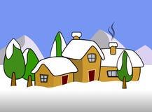 Illustration de l'hiver Photos stock