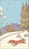 Illustration de l'hiver Images libres de droits
