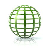 Illustration de l'icône 3d de globe de la terre verte Photographie stock