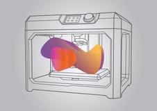 Illustration de l'imprimante 3D Photo stock