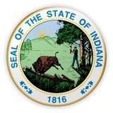 Illustration de l'Indiana 3d de joint d'état d'USA d'insigne illustration libre de droits