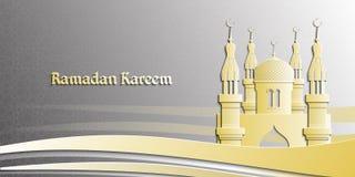 Illustration de l'Islam pour Ramadan Kareem Belle carte de voeux traditionnelle Fond islamique Photographie stock