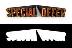 Illustration de l'offre spéciale 3d avec Alpha Map Photographie stock