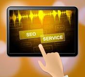 Illustration de l'optimisation 3d de Seo Service Means Search Engine illustration libre de droits