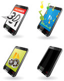 Illustration de la 3ème génération (3G) PDA icônes pour le téléphone Images stock