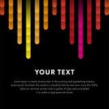 Illustration de la barre musicale colorée montrant le volume Illustration de vecteur illustration stock