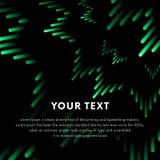 Illustration de la barre musicale verte montrant le volume Fond vert d'ondes sonores d'égaliseur de musique Vecteur illustration stock