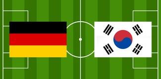 Illustration de la boule 3D du football du football de l'Allemagne Corée Image stock