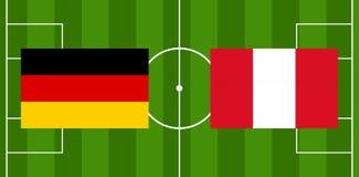 Illustration de la boule 3D du football du football de l'Allemagne Pérou Photo stock