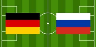 Illustration de la boule 3D du football du football de l'Allemagne Russie Photo stock