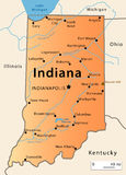 Carte de l'Indiana Image stock