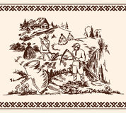 Illustration de la fenaison Image libre de droits