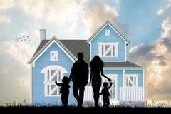 Illustration de la future maison illustration libre de droits