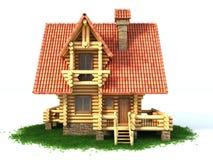 Illustration de la maison de logarithme naturel 3d Photos libres de droits