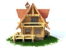 Illustration de la maison de logarithme naturel 3d Photo stock