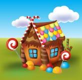 Illustration de la maison douce des biscuits et de la sucrerie Photo libre de droits