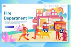 Illustration de la page Web, corps de sapeurs-pompiers illustration stock