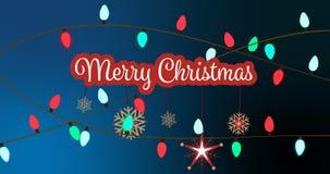 Illustration de la salutation de Noël avec le message de Joyeux Noël illustration libre de droits
