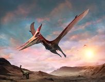 Illustration de la scène 3D de Pteranodon