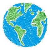 Illustration de la terre Photos libres de droits