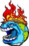 Illustration de la terre de planète de réchauffement global illustration de vecteur